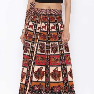 Fire Los Angles Bohemian Cotton Wrap  Skirt/M